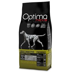 Visán Optimanova Dog Adult Sensitive Rabbit&Potato kutyatáp 12 kg Hústartalom : 70százalék , csirke mentes