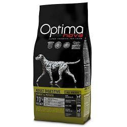 Visán Optimanova Dog Adult Sensitive Rabbit&Potato kutyatáp 12 kg Hústartalom : 70százalék , csirke mentes