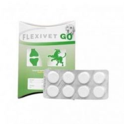 10 levéltől : Flexivet Go izületvédő  ( 8db tabletta/levél , 900mg/tabletta hatóanyag )